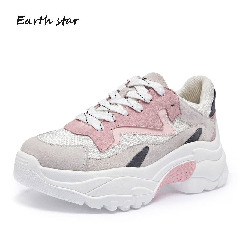 EARTH STAR Platform Shoes Women Fashion Brand Sneaker Lady chaussure Autumn Female footware Good Quality Girl Shoes Cross-tied цена