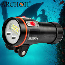 DHL ARCHON D37VP 100M Underwater Diving Flashlight Torch Light 5200 Lumens 8*CREE XM-L2 +2*CREE XP-E+2*UV+2*CREE