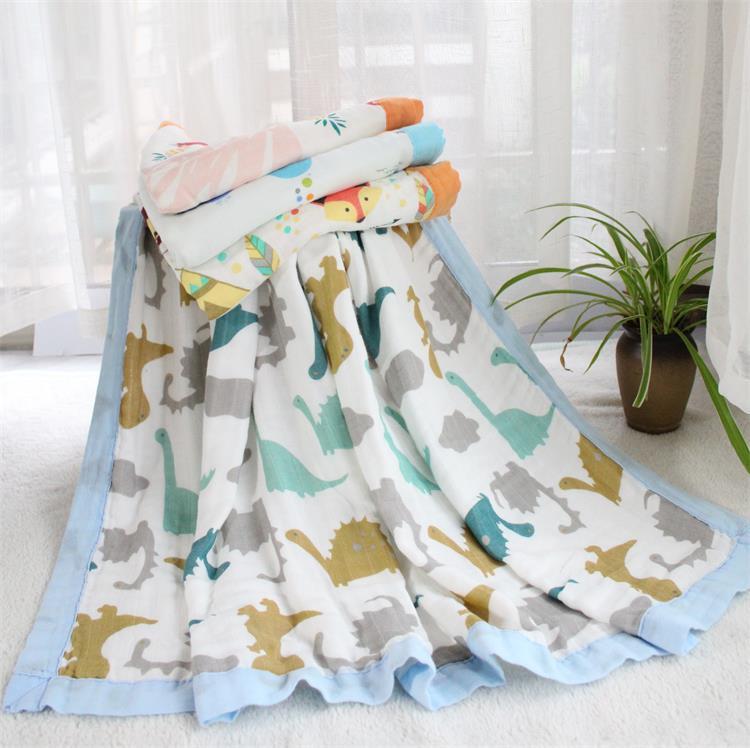 Супермягкое муслиновое одеяло 4 слоя из бамбукового волокна