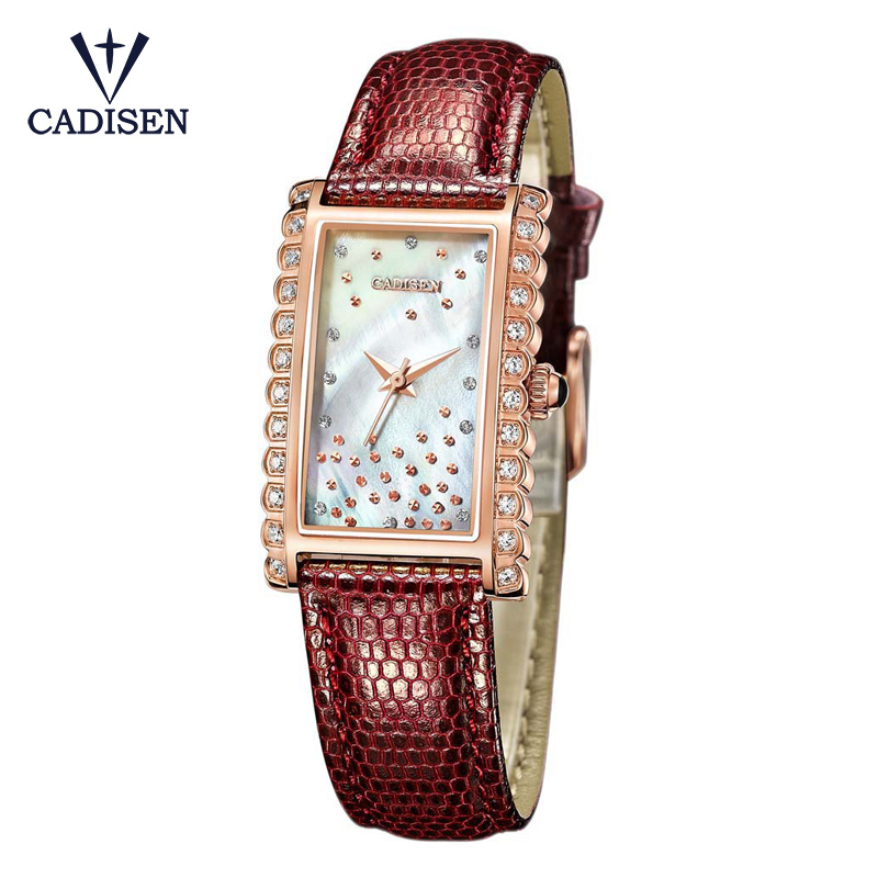 CADISEN Rectangle Women Watches Rose Gold Ladies Wristwatch Female Clock Quartz Watch Fashion Gifts For Girls Relogio Feminino tshing ray fashion women rose gold mirror cat eye sunglasses ladies twin beams brand designer cateye sun glasses for female male