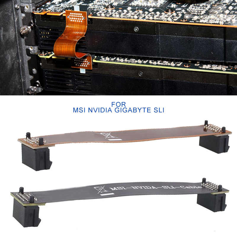 High-Speed Transmission Dual GPU SLI Bridge Connector Adapter Crossfire  Graphics Cards Solid for MSI Graphics Card Flexible