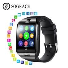 Купить с кэшбэком Q18 Smart Watch 1.3inch HD Big Screen Support Camera Dial/answer SIM/TF Card Fitness Tracker Bluetooth Bracelet VS DZ09 A1 V8