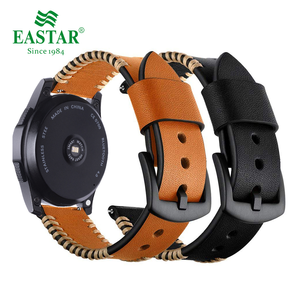 Genuine Leather 22mm Strap For Samsung Gear S3 Frontier Samsung Classic Watch Band For Xiaomi Huami Amazfit Pace Lite Strap