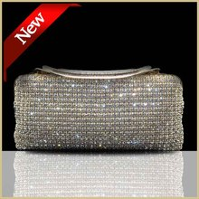 Both side evening bags cerise Crystal handbag golden sliver black women crystal clutch bag lady Clutches