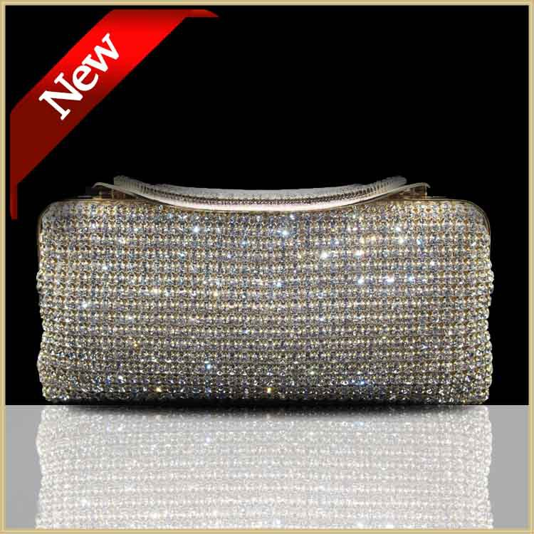 Both side evening bags cerise Crystal handbag golden sliver black women crystal font b clutch b