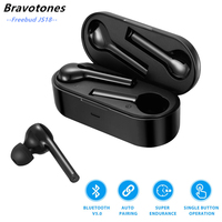 Freebud 5.0 Wireless Bluetooth Earphone 3D Stereo TWS Wireless Earphones Headset with Dual Microphones for iphone xiaomi huawei