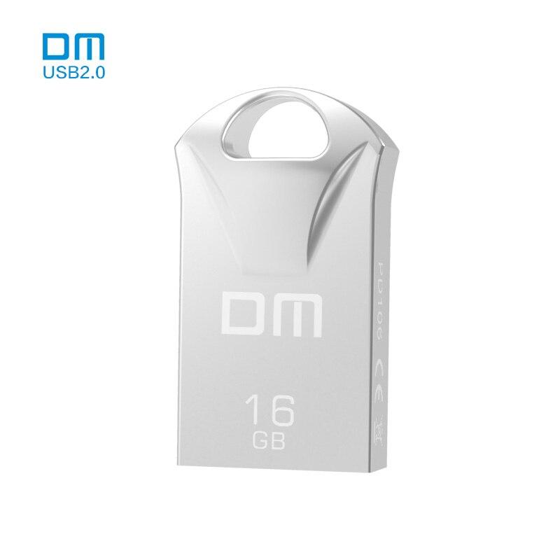 DM PD106 Metal 8GB 16GB 32GB  Pen Drive Storage MINI Vehicle USB Flash Free Shipping