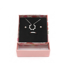 High Quality 20 Pack/Lot 7.5x7.5x3.5cm Pink Heart Kraft Paper Craft Jewelry Rings Boxes Necklace Earring Ring Gift Display Cases