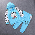 2017 Baby Girls clothing sets Children hoodies spring autumn clothes Girl set kids sport tracksuit set baby t-Shirt+Pants 2Pcs