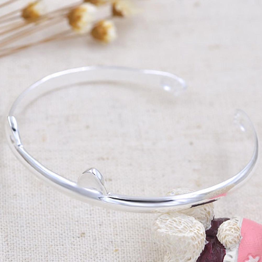 Silver Cat Ear Bracelet