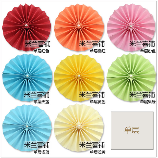 Diy origami paper fan rotor flowers wholesale background decoration diy origami paper fan rotor flowers wholesale background decoration wedding wedding stage props monolayer mightylinksfo