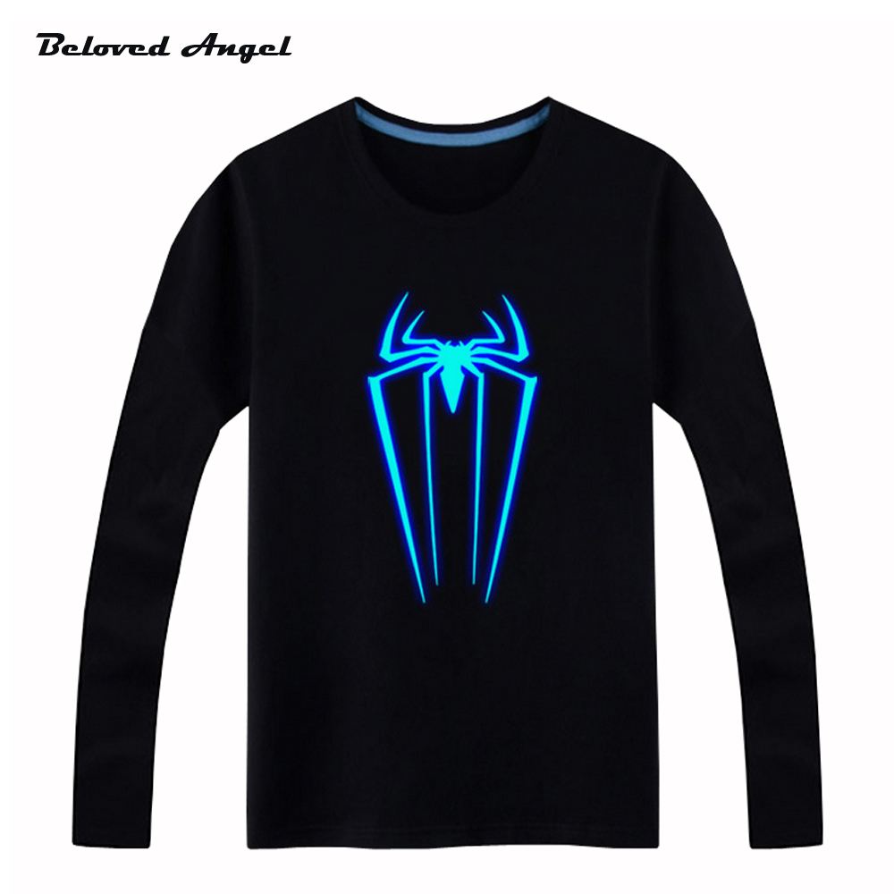 Beloved-Angel-New-Design-100-Cotton-Boys-Girls-T-Shirt-Kids-Long-Sleeves-Tops-Neon-Print-Shine-Blu-ray-Children-Tees-1