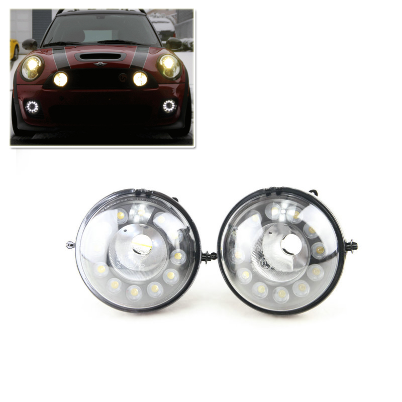 High Power Waterproof Led Daytime Running Light Front Fog Lamp Kit For Bmw Mini Cooper R55 R56 R57 R58 R59 R60 Car Styling White набор приспособлений для обслуживания грм двигателя bmw n12 mini cooper jonnesway al010079