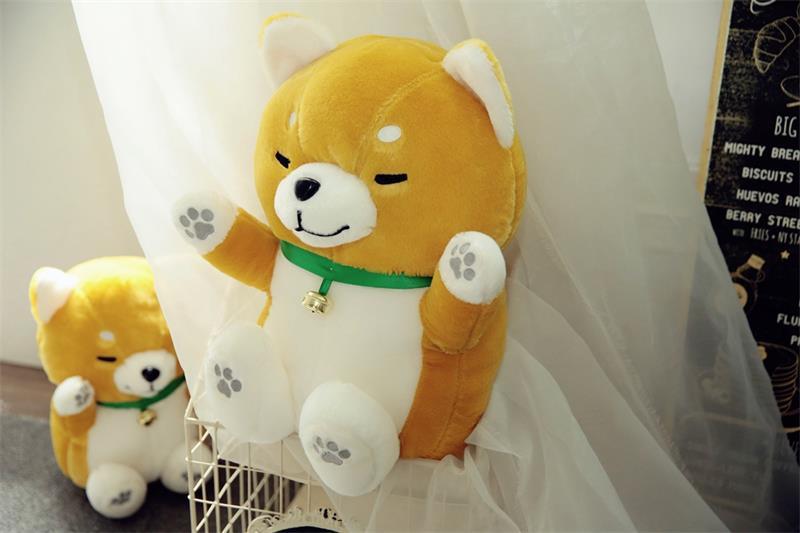Nouveau style dessin animé Shiba Inu gros chien en peluche jouet grand 40 cm doux poupée jeter oreiller jouet cadeau de noël b1607
