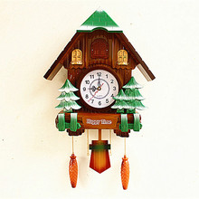 quartz Clocks watches Cuckoo cuckoo clock wall clock painted retro European style living room restaurant hanging out of the wind