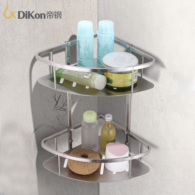 DiKon Bathroom Shelf Basket 304 Stainless Steel Bathroom Accessories Dual Tier  Angle Basket Shelves 304 stainless steel 280 140 500mm bathroom shelf bathroom products bathroom accessories 29016