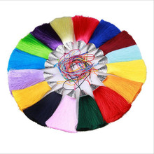 5pcs/lot 80mm Chinese Knot Tassels Handmade Long Silk Tassel Pendants for Tassel Jewelry Supplies Making Materials Z20