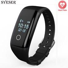 SYESER V6S смарт Пульсометр smartband фитнес-трекер браслет Шагомер смарт браслет для Android pk ID107 М2 S3
