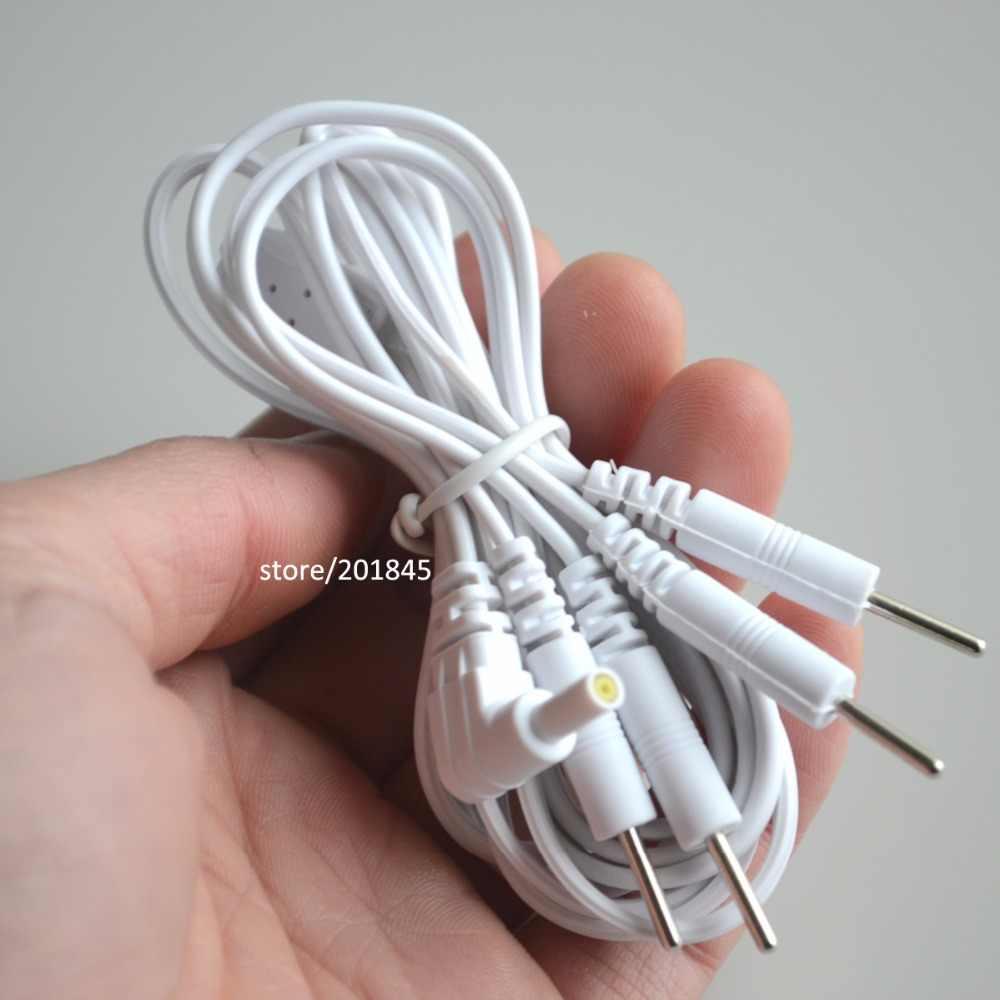 2 個ピン 2.35 ミリメートル 4 で 1 ヘッド電極ケーブルラインのコネクターワイヤー十 7000 & 十/ EMS 電子治療機