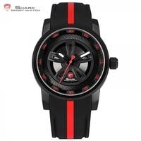Thresher SHARK Sport Watch Brand Red Racing Car Wheel Design Quartz Movement Silicone Watches Waterproof New