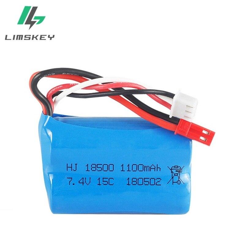 7,4 V 1100 mAH 15C Lipo batería para MJX T10 T11 T34 HQ 827 871 helicóptero de control remoto de la batería de 7,4 V 1100 mAH 18500 Juguetes 2500 mAh 7,4 v batería lipo para Syma x8c X8G X8W X8G X8HC X8HW X8HG para RC Quodcopter piezas 7,4 batería de repuesto de batería v
