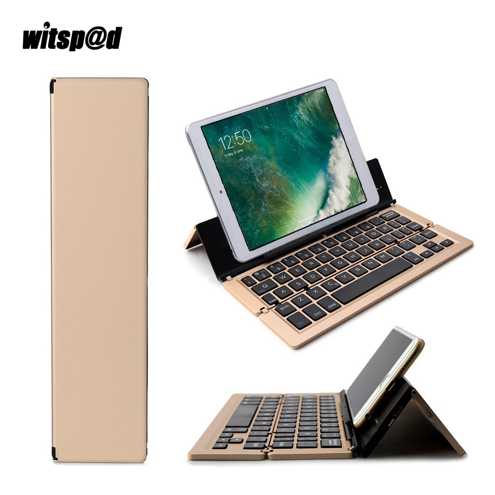 Witsp@d 3 in 1 USB mini wireless keyboard for Apple ios For Android For Windows systems smart phone for 3.0 Bluetooth Keyboards