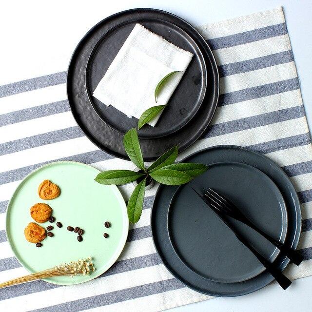 85 Zoll Japan Zakka Stil Keramik Geschirr Platten Steinzeug
