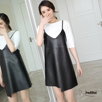 Svadilfari Wholesale New 2018 Cold Shoulder Summer Dress Vintage Irregular Wrap Short Dress Women Chic Genuine