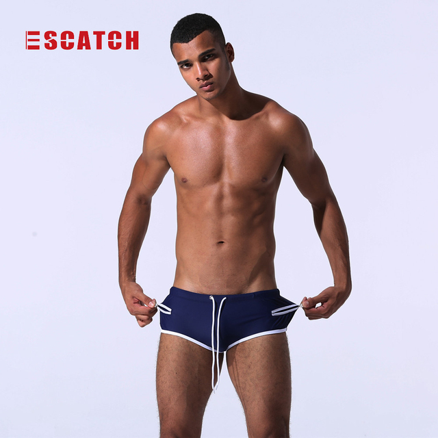 Swimwear Men Swimming Trunks Sexy Swimsuit Bathing Suit Male Brazilian Swim  Wear Gay Boxer Briefs Shorts