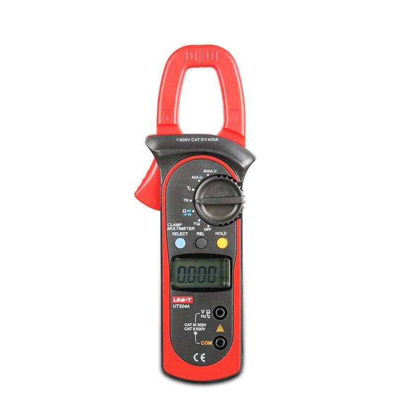 UNI-T UT204A UT203 pince numérique multimètre gamme automatique avec volts ampèremètre Ohm Cap Herz testeur