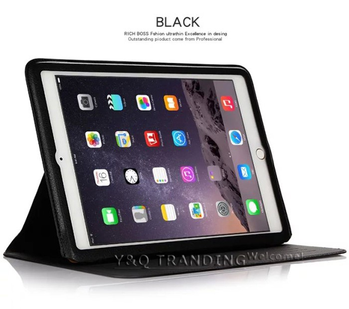 Ultrathin Cowhide Genuine Leather Case for Apple iPad Real Leather Business Stand Smart Cover for iPad  (15)