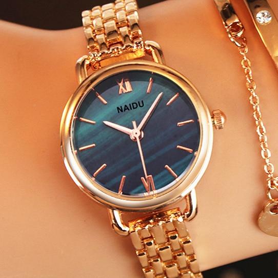 Women Watches Brand NAIDU Ladies Bracelet Watch Womens Quartz Dress Wristwatch Feminino Relogio 2019 New Reloj Mujer Kol Saati
