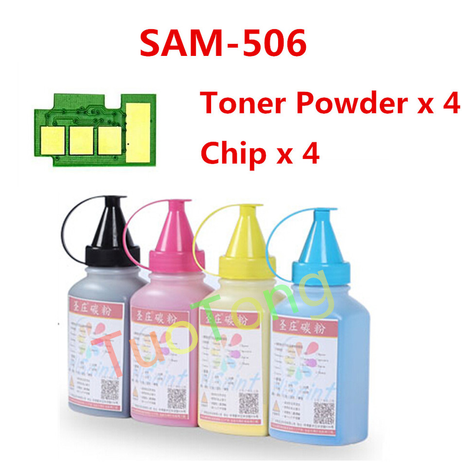ФОТО Toner Powder And Chip For Samsung 506 CLT 506  For CLX6260FW/CLX 6260ND/CLX-6260NR Laser Printer Real Hot Sale