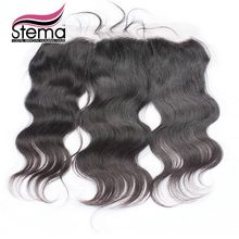 Stema Hair 4×13 Indian Virgin Hair Body Wave Lace Closure Free Part With Baby Hair Indian Body Wave Lace Frontal Closure Ms lula