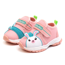 2019 Baby First Walkers Cartoon Cute Bunny Infant Shoes Casual Soft Toddler Boys Girls Shoe Non Slip Newborn Kids Sneakers cute baby loverly cartoon kids toddler stripe mouse first walkers cute boys and girls infant shoes soft sole unisex 0 12m