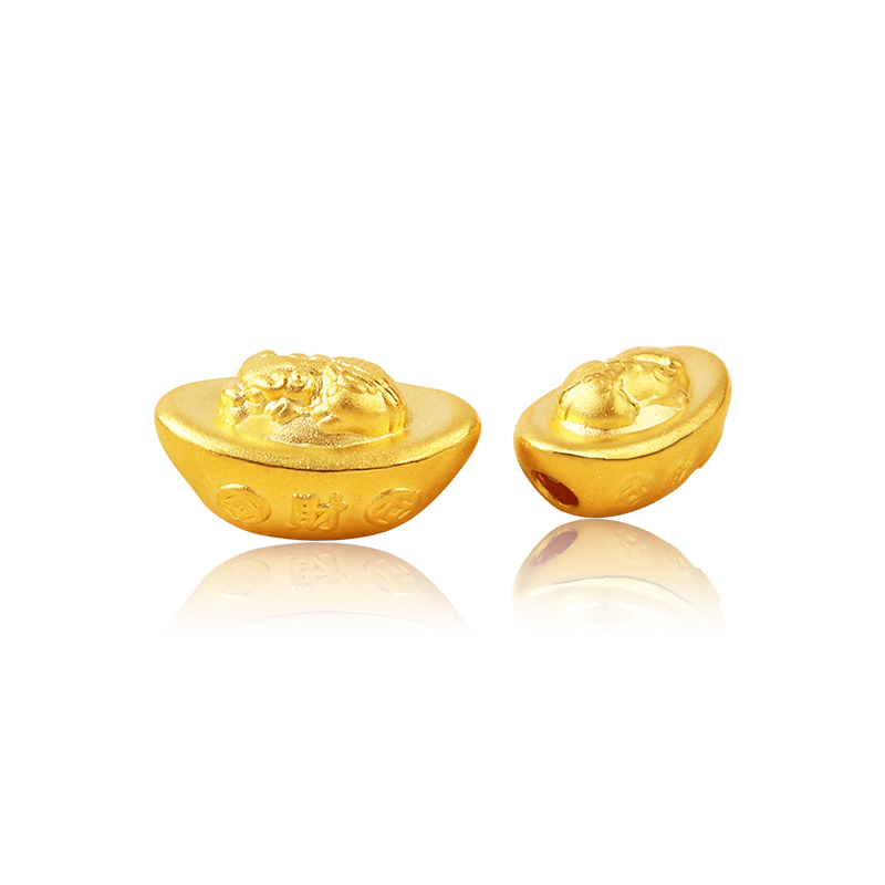 New 24K Yellow Gold Bead Ingots Pixiu Luck Bead For Women Men Fashion Best Gift 2019New 24K Yellow Gold Bead Ingots Pixiu Luck Bead For Women Men Fashion Best Gift 2019