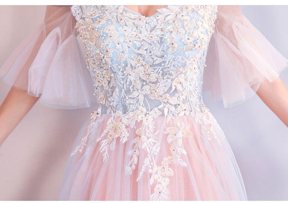Elegant Off The Shoulder Tulle Long Bridesmaid Dress 15