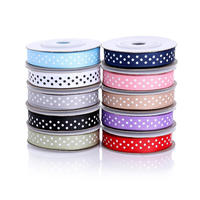 50 Yards 3 8 Grosgrain Fabric Ribbon Set For Gift Wrapping Hair Bow Clips Accessories Crafts