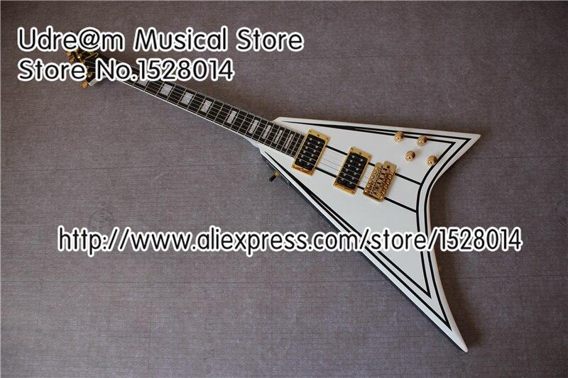 Chine Instruments de musique Jackson Suneye guitare électrique Randy Rhoads volant V Guitarra commutateur personnalisé
