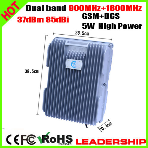 GSM+DCS 900mhz+1800mhz 5Watts 37dbm 85dbi Mobile Phone Signal Booster Ship/Tunnel/Farm/Village/Desert Signal Construction