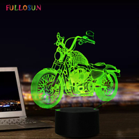 USB LED 3D Lamp LED Motorcycle Model 3D Sensor Night Light Atmosphere Lamp as Bedroom Decoration