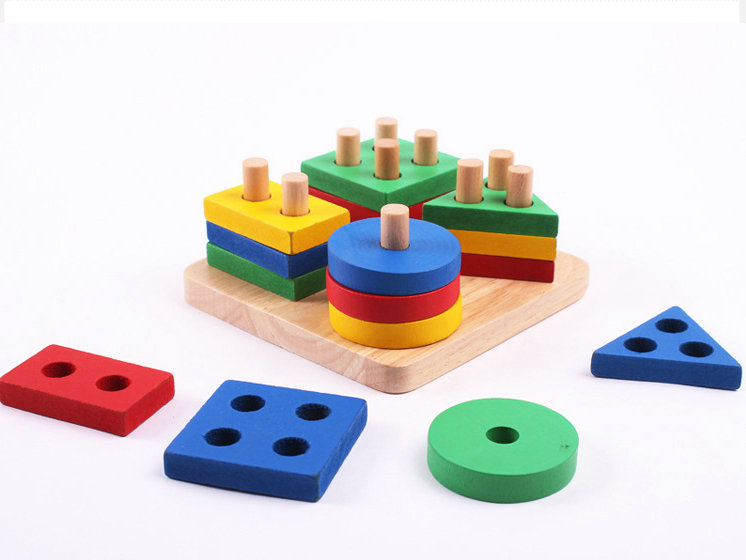 Wooden Educational Montessori Intelligence Geometry Board 2
