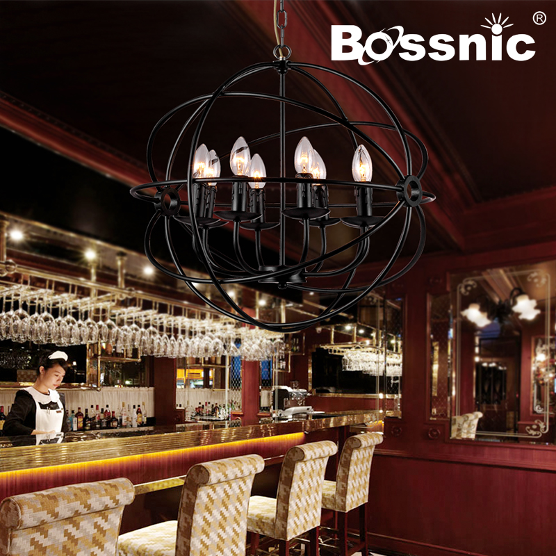 BossnicLighting Restoring ancient ways Wrought iron Creative personality Pendant light Parlor|Restautrant|Dining room|Hotel Lamp