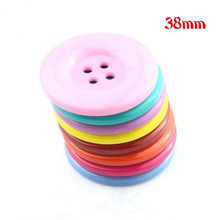 10pcs 38mm 4 holes Colorful resin coat buttons large fashion buttons clothing accessories diy sewing craft accessories