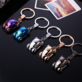 9.4CMCreative Metal lED Car Keychain car accessories Turbo Charger Key Chains Key Ring Holder Keyring Porte clef Gift Souvenirs