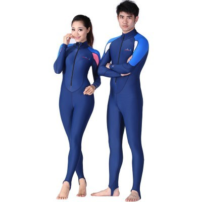 DIVE&SAIL LS-715A Men Women Scuba Dive Skin swimwear Surfing Swim Jumpsuit Wetsuit RashGuard
