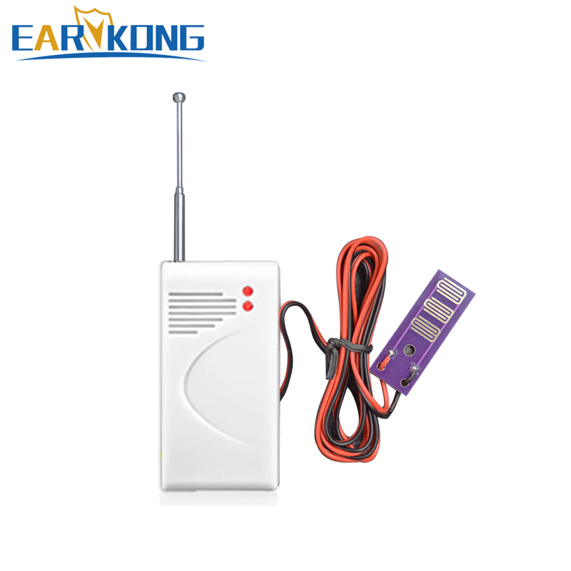 433MHz Wireless Water Leakage Detector For Home Security Wifi / GSM Alarm System Water Sensor Alarm Intrusion Detector water leak detector 433mhz wireless intrusion work with gsm pstn sms home house security for alarm system water leak sensor