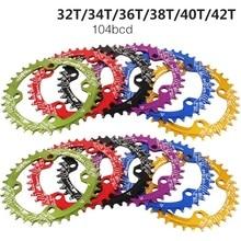 Велосипедная Звездочка 104 кор 32/34/36/38 T/40 T/42 T круговой MTB велосипеда шатунная пластина велосипед колесо цепной передачи с рычагом