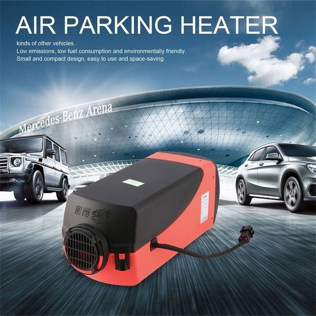 High Quality 12V 3KW Parking Diesel Air Heater Single-hole Switch with Muffler Universal For Tank Vent Duct Thermostat Caravan