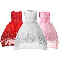 Girls Dress Flower Sequins Children Wedding Party Dresses Kids Evening Ball Gowns Formal Baby Frocks Clothes